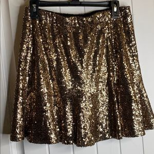 Gold and Silver Sequined Skirt